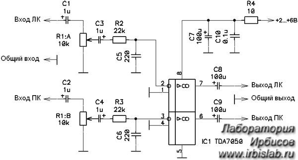 Схема на TDA7050