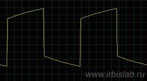Подъём АЧХ на НЧ (фаза отстаёт)